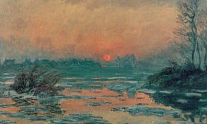 Monet's Sunset on the Seine in Winter (1880).