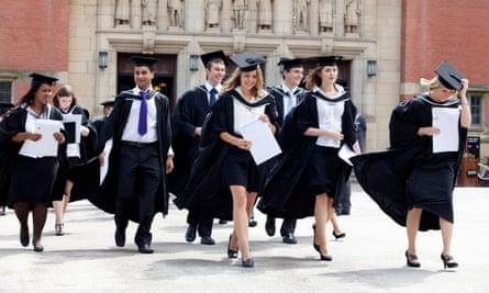 Graduates after a degree ceremony