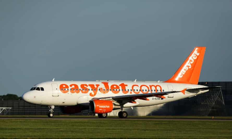 Easyjet aeroplane on the ground