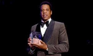 Jay-Z, pictured at the Grammys pre-party on Saturday night, said on CNN: 'You haven't fixed anything. You have sprayed perfume on the trash can. What you do when you do, that is the bugs come.'