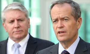 Brendan O'Connor, Labor's employment spokesman, left, and the opposition leader Bill Shorten. If elected, Labor will require labour hire companies to be licensed.