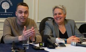 David Challen and Harriet Wistrich speak at press conference