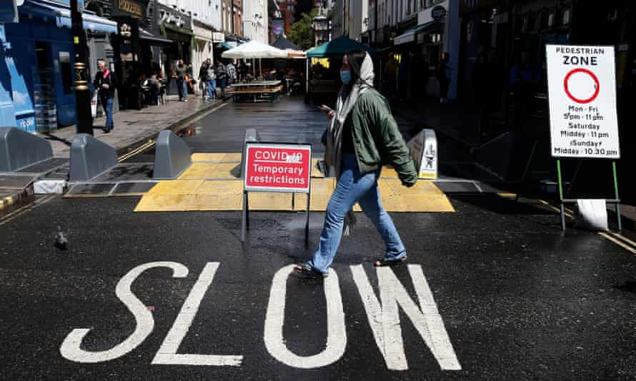 Businesses in Soho, central London, prepare for the easing of lockdown measures in England