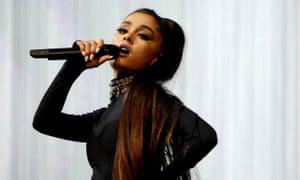 Ariana Grande performing in Phoenix, Arizona, in February.
