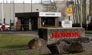 The entrance to the Honda manufacturing plant in Swindon, UK