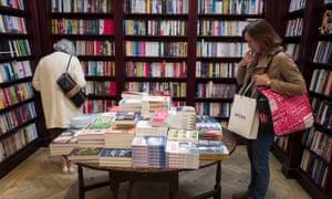 Daunt Book shop in Marylebone, London.