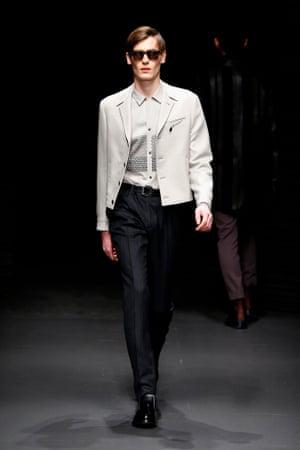 model at Salvatore Ferragamo AW17