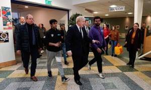 Boris Johnson meets staff and students at Bolton University