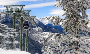 Ski lift at Baqueira Beret, Spain