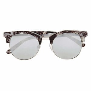 Editor's pick: these marble-printed frames will give your summer staples an architectural edge – the perfect seasonal buy Clubmaster style, £15, marksandspencer.com