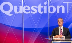 Nigel Farage on Question Time in May 2015