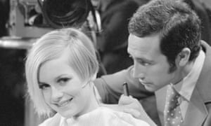 Leonard Lewis (Leonard of Mayfair) tends to Twiggy's hair in New York in 1967. He helped to launch her modelling career.