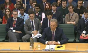 Tony Blair appearing in front of the foreign affairs committee
