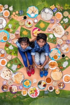 Tharkish Sri Ganesh aged 10 and Mierra Sri Varrsha aged 8, Kuala Lumpur, Malaysia