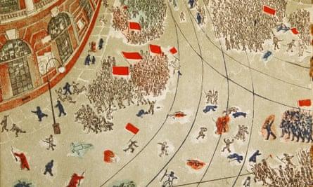 Alisa Poret's illustrations for How the Revolution Was Won.