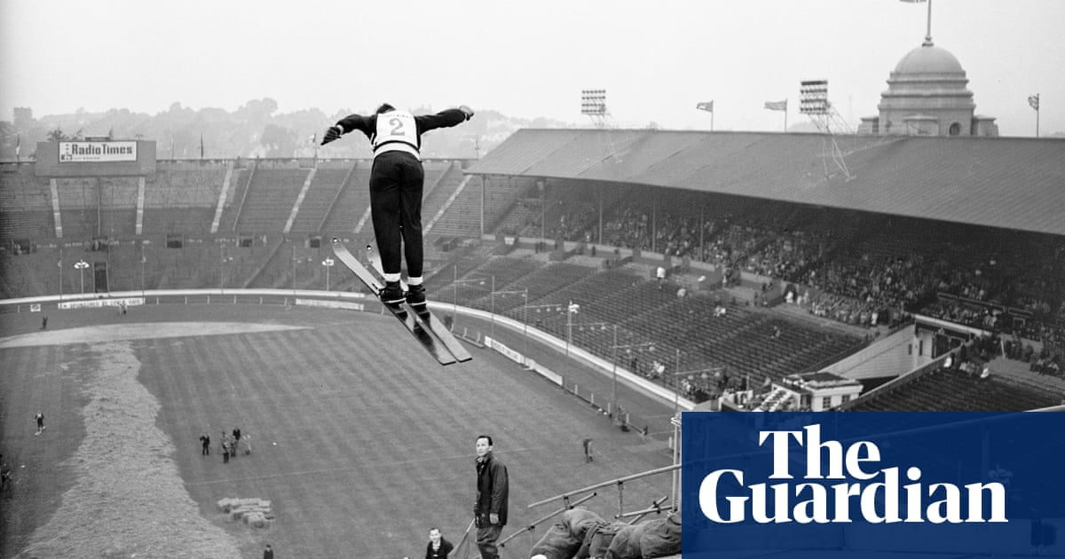 The day Wembley turned to ski jumping – in pictures