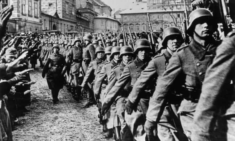 German troops march into Prague