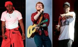Kendrick Lamar, Ed Sheeran and Jay Z are among this year's nominees
