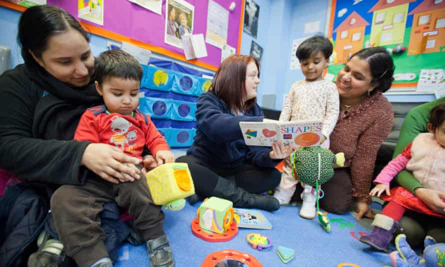The Sure Start Whitley children's centre in Reading. The Tory thinktank believes readiness for school should be a measure of poverty rather than just income-based targets.