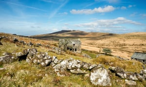 An old farmhouse on the slopes of Brown Willy, Bodmin Moor