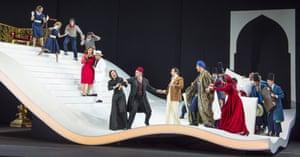 A staircase 'like something by Busby Berkeley' … L'italiana in Algeri by Garsington Opera.