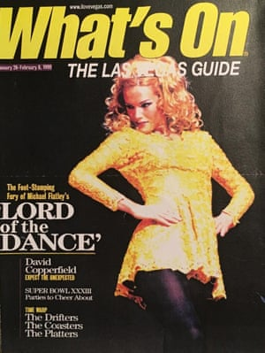 'It was just insane' … Saunders on the cover of the Las Vegas guide.