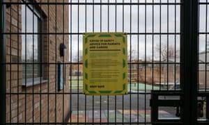 Primary school gate in London