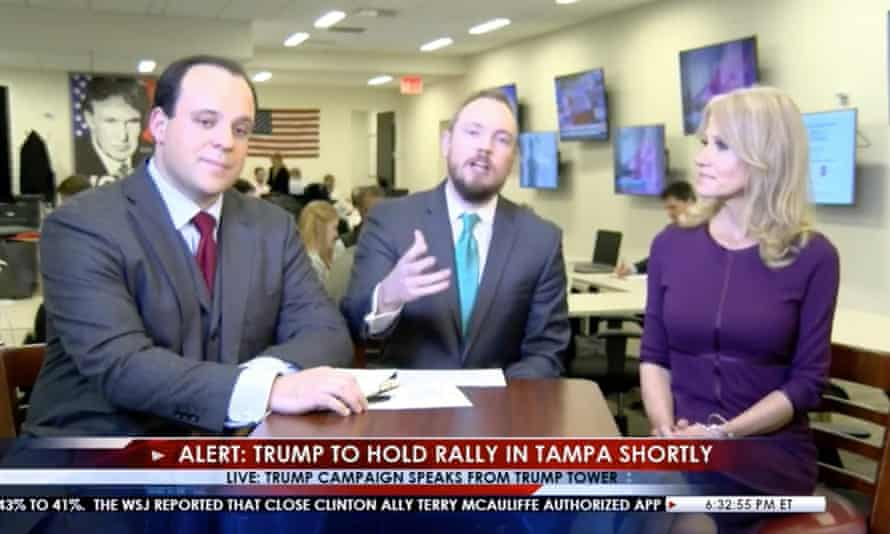 Trump TV, complete with a hypnotic scroll of propaganda.