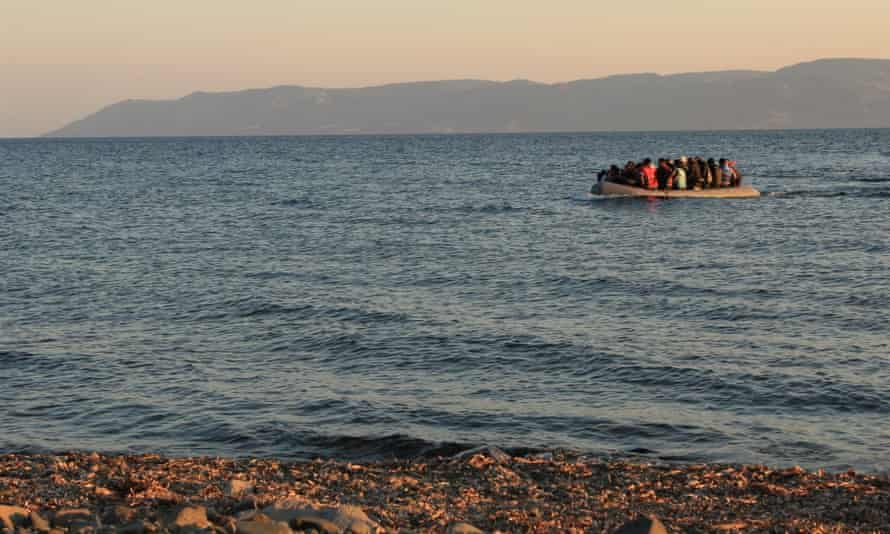 People from Syria, Afghanistan and elsewhere arrive on Lesbos in June.