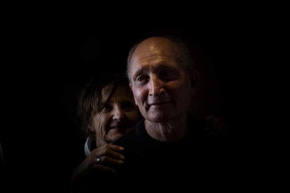 Alan 'Dizzy' Lynch, with his wife Jen.