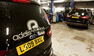 The Addison Lee's service centre at their HQ in London.