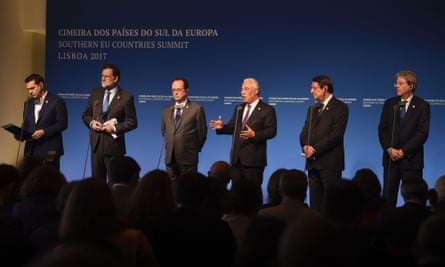 The leaders of Greece, Spain, France, Portugal, Cyprus and Italy.