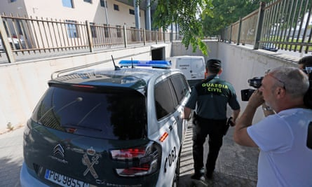 The detained men were taken to court at the palace of justice in Benidorm.