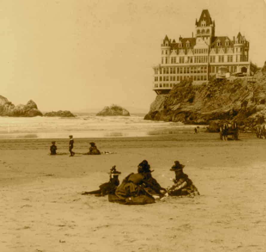 The Cliff House is perched on the cliffs just north of Ocean beach in San Francisco.