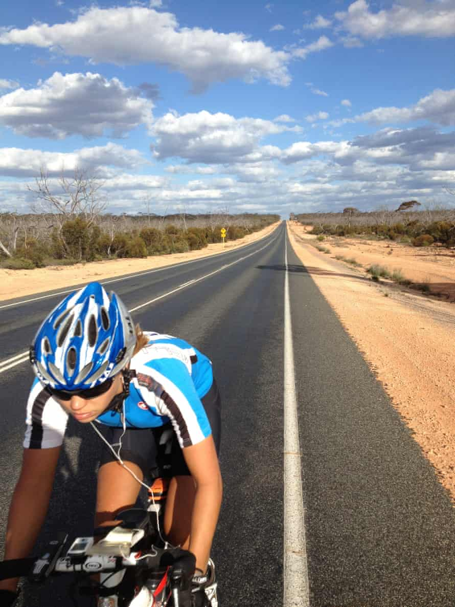 Buhring in Australia during her 2012 cycle around the world.