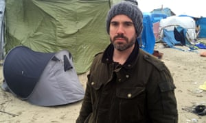 Xand van Tulleken at the refugee camp at Calais.