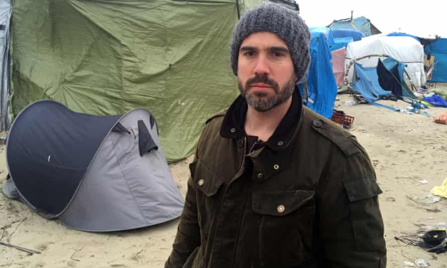 Xand van Tulleken at the refugee camp at Calais.
