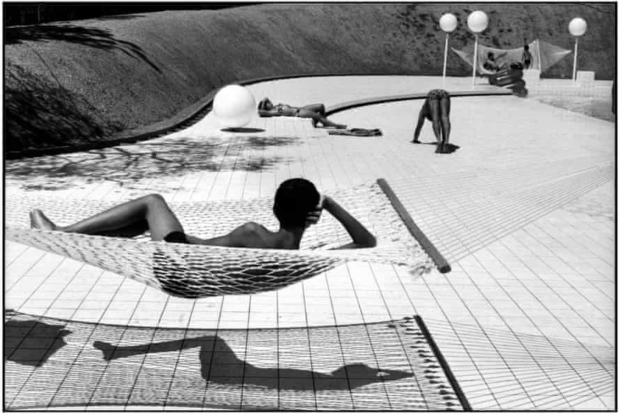Pool designed by Alain Capeilleres in Le Brusc, Provence by Martine Franck - part of the Swaps exhibition.