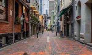 An empty laneway in Melbourne