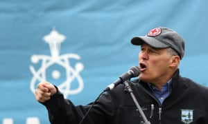 Washington governor Jay Inslee has said that confronting climate change during the next presidential administration is our 'one chance at survival'.