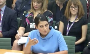 Priti Patel speaks to the international development committee