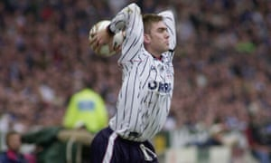 Tranmere's Dave Challinor prepares to unleash another huge throw in the 2000 League Cup final.