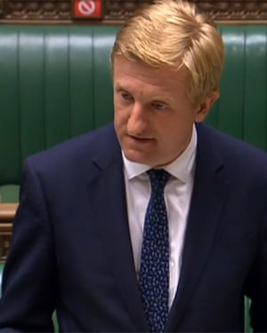 Oliver Dowden as he gives a statement to the House of Commons i