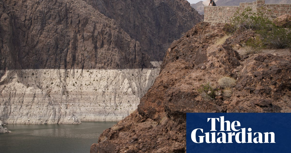 Footage shows low water mark at biggest US reservoir as shortage declared – video