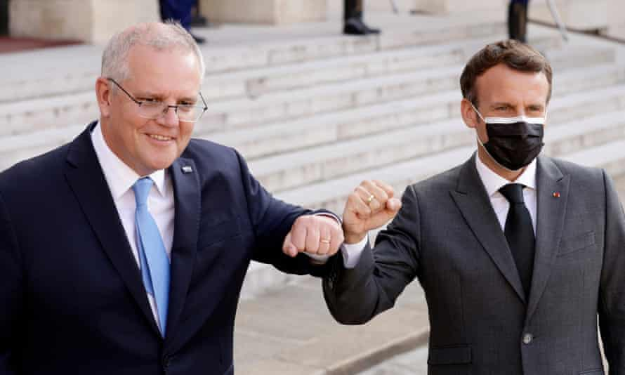 Scott Morrison and Emmanuel Macron