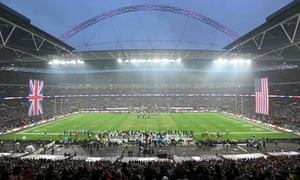 Fans at Wembley observed both the American national anthem and the English national anthem before kick-off.