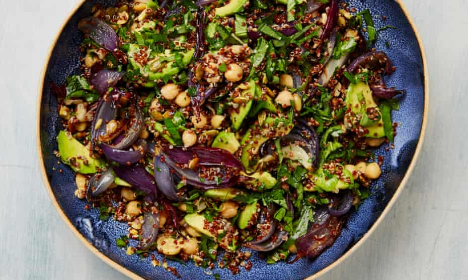 The sparky salad: Yotam Ottolenghi's quinoa with chickpeas, pumpkin seeds and herbs.