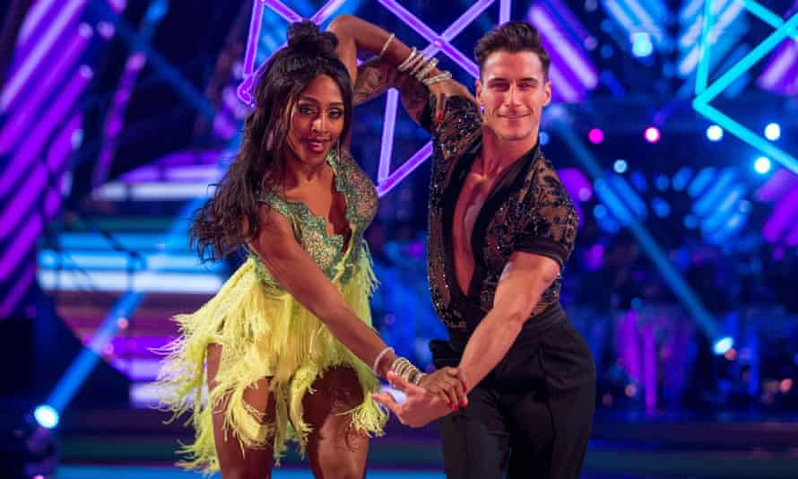 Alexandra Burke with her dance partner Gorka Marquez on Strictly Come Dancing in 2017