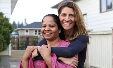Asia Bibi with journalist Anne-Isabelle Tollet.