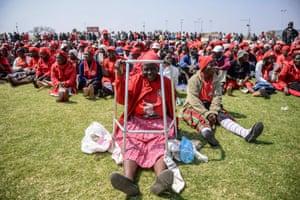 Bulawayo, ZimbabweA crowd listens to the opposition leader Morgan Tsvangirai address a rally at the White City stadium